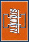 Milliken College Team Spirit (NCAA) Illinois 74233 Spirit Rectangle (4000019215) 5'4