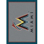 "Milliken MLB Team Spirit (MLB-S) Miami Marlins 01040 Spirit Rectangle (4000019576) 7'8"" x 10'9"" Area Rug"