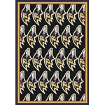 "Milliken NFL Team Repeat (NFL-R) Baltimore Ravens 09008 Repeat Rectangle (4000090994) 3'10"" x 5'4"" Area Rug"