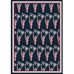 "Milliken NFL Team Repeat (NFL-R) New England Patriots 09056 Repeat Rectangle (4000052533) 5'4"" x 7'8"" Area Rug"
