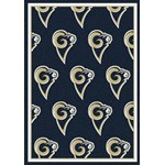 "Milliken NFL Team Repeat (NFL-R) St. Louis Rams 09086 Repeat Rectangle (4000054765) 5'4"" x 7'8"" Area Rug"