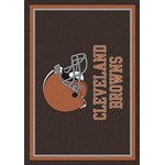 "Milliken NFL Team Spirit (NFL-S) Cleveland Browns 00923 Spirit Rectangle (4000095966) 10'9"" x 13'2"" Area Rug"