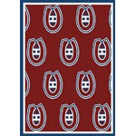 "Milliken NHL Team Repeat (NHL-R) Montreal Canadians 01612 Repeat Rectangle (4000020448) 7'8"" x 10'9"" Area Rug"