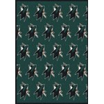 "Milliken NHL Team Repeat (NHL-R) San Jose Sharks 02052 Repeat Rectangle (4000096070) 10'9"" x 13'2"" Area Rug"
