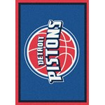 "Milliken NBA Team Spirit (NBA-S) Detroit Pistons 01008 Spirit Rectangle (4000052867) 2'8"" x 3'10"" Area Rug"