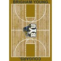Milliken College Home Court (NCAA) Brigham Young 01048 Court Rectangle (4000018284) 3