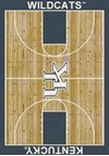 Milliken College Home Court (NCAA) Kentucky 01140 Court Rectangle (4000018471) 7'8