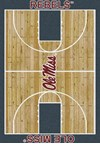 Milliken College Home Court (NCAA) Mississippi 01186 Court Rectangle (4000018312) 3'10