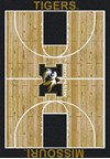 Milliken College Home Court (NCAA) Missouri 01200 Court Rectangle (4000018399) 5'4