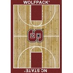 "Milliken College Home Court (NCAA) North Carolina State 01220 Court Rectangle (4000018485) 7'8"" x 10'9"" Area Rug"
