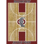 "Milliken College Home Court (NCAA) Ohio State 01000 Court Rectangle (4000018362) 5'4"" x 7'8"" Area Rug"