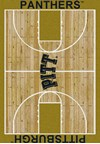 Milliken College Home Court (NCAA) Pittsburgh 01330 Court Rectangle (4000018411) 5'4