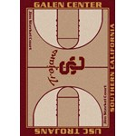 "Milliken College Home Court (NCAA) Southern California 01370 Court Rectangle (4000018331) 3'10"" x 5'4"" Area Rug"