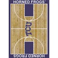 Milliken College Home Court (NCAA) Texas Christian 01430 Court Rectangle (4000018342) 3
