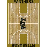 "Milliken College Home Court (NCAA-CRT) Pittsburgh 01330 Court Rectangle (4000096110) 10'9"" x 13'2"" Area Rug"