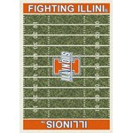 "Milliken College Home Field (NCAA) Illinois 01113 Home Field Rectangle (4000018697) 10'9"" x 13'2"" Area Rug"