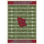 "Milliken College Home Field (NCAA-FLD) Wisconsin 01490 Home Field Rectangle (4000054673) 3'10"" x 5'4"" Area Rug"