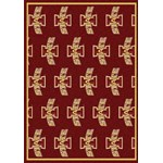"Milliken College Repeating (NCAA) Iowa State 01111 Repeat Rectangle (4000018984) 10'9"" x 13'2"" Area Rug"