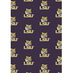 "Milliken College Repeating (NCAA) LSU 01152 Repeat Rectangle (4000018775) 3'10"" x 5'4"" Area Rug"