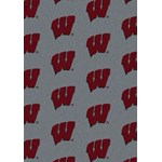 "Milliken College Repeating (NCAA) Wisconsin 01490 Repeat Rectangle (4000018886) 5'4"" x 7'8"" Area Rug"