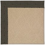 Capel Rugs Creative Concepts Cane Wicker - Fortune Lava (394) Octagon 4' x 4' Area Rug