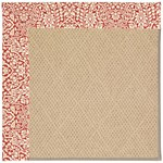 Capel Rugs Creative Concepts Cane Wicker - Imogen Cherry (520) Octagon 4' x 4' Area Rug