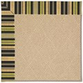 Capel Rugs Creative Concepts Cane Wicker - Vera Cruz Coal (350) Octagon 6