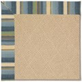Capel Rugs Creative Concepts Cane Wicker - Kalani Ocean (417) Octagon 6