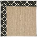Capel Rugs Creative Concepts Cane Wicker - Arden Black (346) Octagon 8
