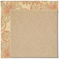 Capel Rugs Creative Concepts Cane Wicker - Paddock Shawl Persimmon (810) Octagon 8