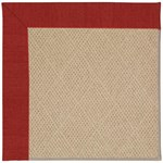 Capel Rugs Creative Concepts Cane Wicker - Canvas Cherry (537) Octagon 12' x 12' Area Rug