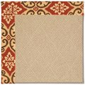Capel Rugs Creative Concepts Cane Wicker - Shoreham Brick (800) Octagon 12