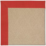 "Capel Rugs Creative Concepts Cane Wicker - Dupione Crimson (575) Runner 2' 6"" x 8' Area Rug"