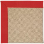 "Capel Rugs Creative Concepts Cane Wicker - Canvas Jockey Red (527) Runner 2' 6"" x 10' Area Rug"