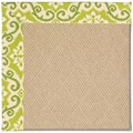 Capel Rugs Creative Concepts Cane Wicker - Shoreham Kiwi (220) Rectangle 4