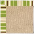 Capel Rugs Creative Concepts Cane Wicker - Tux Stripe Green (214) Rectangle 5
