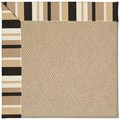 Capel Rugs Creative Concepts Cane Wicker - Granite Stripe (335) Rectangle 6