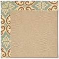 Capel Rugs Creative Concepts Cane Wicker - Shoreham Spray (410) Rectangle 7