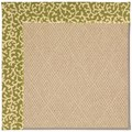 Capel Rugs Creative Concepts Cane Wicker - Coral Cascade Avocado (225) Rectangle 8