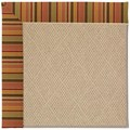 Capel Rugs Creative Concepts Cane Wicker - Tuscan Stripe Adobe (825) Rectangle 9