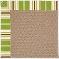 Capel Rugs Creative Concepts Grassy Mountain - Tux Stripe Green (214) Rectangle 7