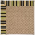 Capel Rugs Creative Concepts Raffia - Vera Cruz Coal (350) Octagon 4