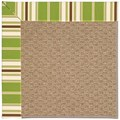 Capel Rugs Creative Concepts Raffia - Tux Stripe Green (214) Octagon 10