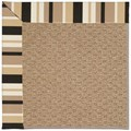 Capel Rugs Creative Concepts Raffia - Granite Stripe (335) Octagon 12