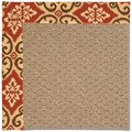 Capel Rugs Creative Concepts Raffia - Shoreham Brick (800) Octagon 12