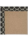 Capel Rugs Creative Concepts Raffia - Arden Black (346) Rectangle 5' x 8' Area Rug