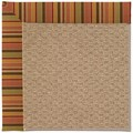 Capel Rugs Creative Concepts Raffia - Tuscan Stripe Adobe (825) Rectangle 5