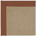 Capel Rugs Creative Concepts Raffia - Linen Chili (845) Rectangle 8