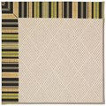 Capel Rugs Creative Concepts White Wicker - Vera Cruz Coal (350) Octagon 4