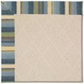Capel Rugs Creative Concepts White Wicker - Kalani Ocean (417) Octagon 6